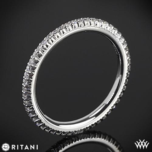 Ritani 33700 Open Micropavé Eternity Diamond Wedding Ring
