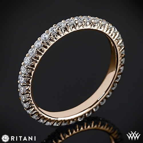 Ritani S35-8 Stack Full Eternity Diamond Right Hand Ring
