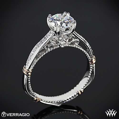 Verragio D-101S Shared-Prong Split Claw Diamond Engagement Ring