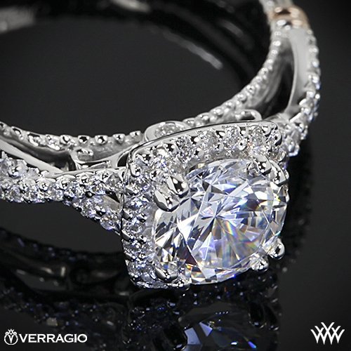Verragio Twisted Halo Diamond Engagement Ring