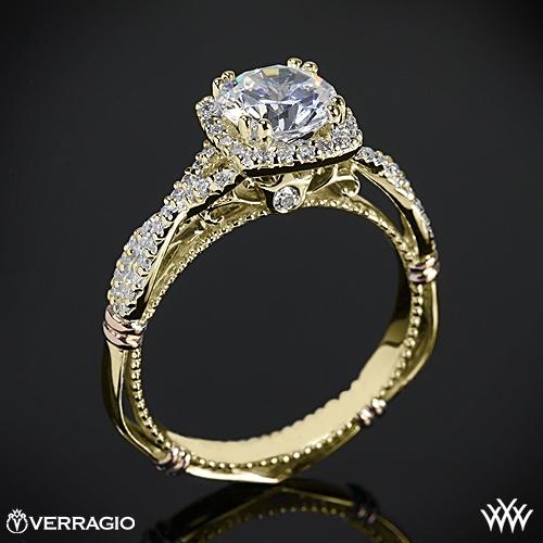 Verragio D-106CU Twisted Halo Diamond Engagement Ring