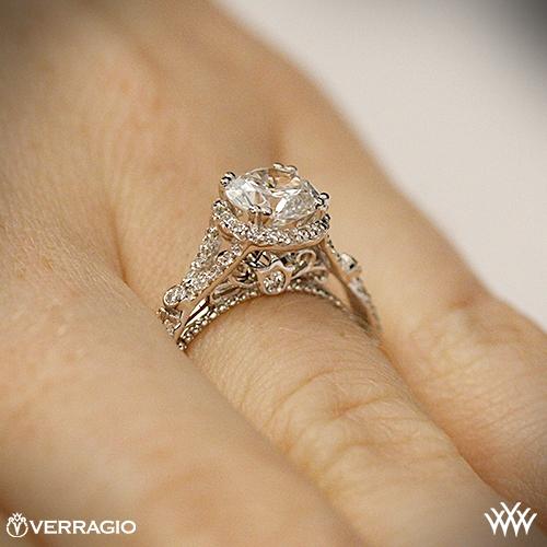 verragio twisted split shank diamond engagement ring 2228