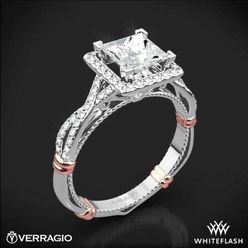 Verragio D-106P Halo Diamond Engagement Ring for Princess