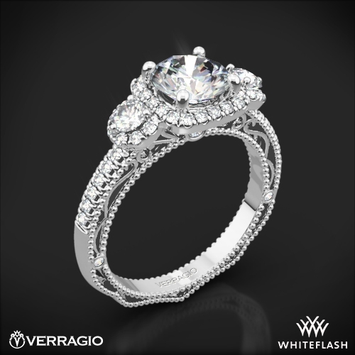 Verragio AFN-5025CU-4 Triple Halo Three Stone Engagement Ring