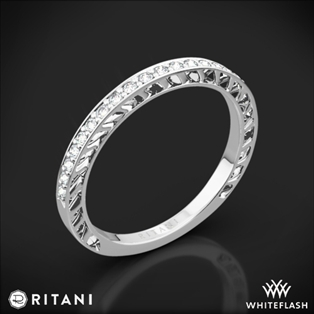 Ritani 24170 Lattice Micropavé Diamond Wedding Ring