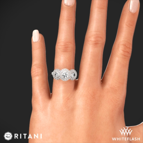 ... Ritani Endless Love 3 Stone Engagement Ring 7 ...