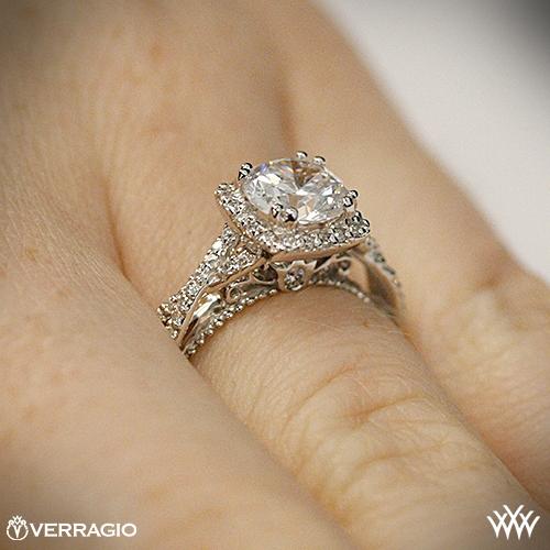 Halo Verragio engagement rings exclusive photo