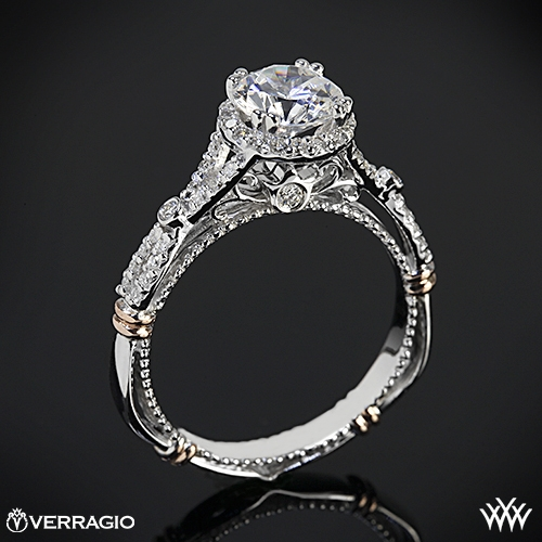 verragio twisted split shank diamond engagement ring 2228 - Verragio Wedding Rings