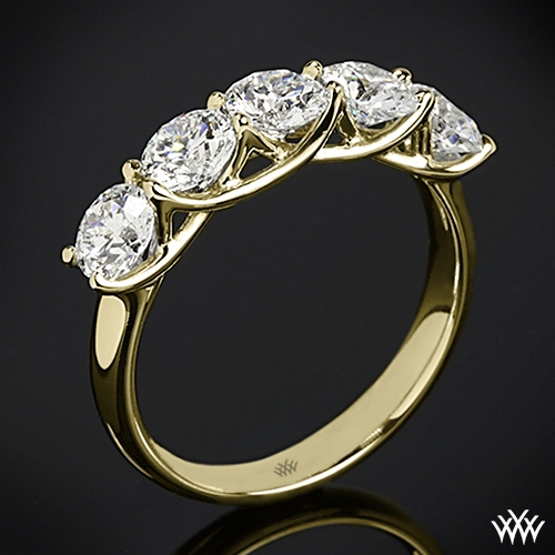Five Stone Trellis Diamond Right Hand Ring
