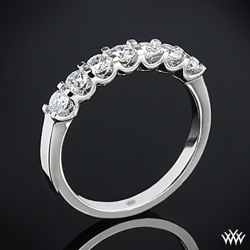Annettes U-Prong Seven Stone Diamond Wedding Ring