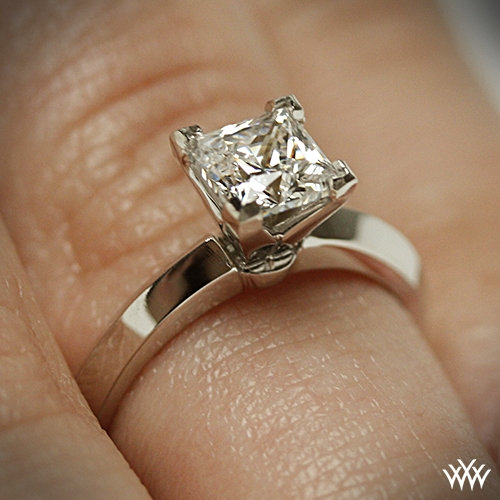classic classic knife edge solitaire engagement ring for. Black Bedroom Furniture Sets. Home Design Ideas