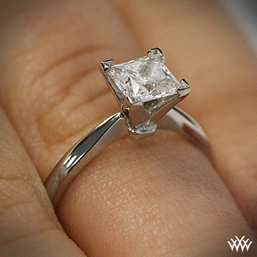 Contemporary Classic Solitaire Engagement Ring For