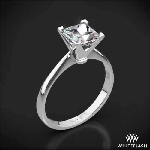 Contemporary Solitaire Engagement Ring for Princess