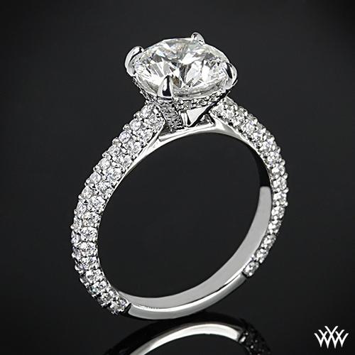 elena rounded pave diamond engagement ring 2389. Black Bedroom Furniture Sets. Home Design Ideas