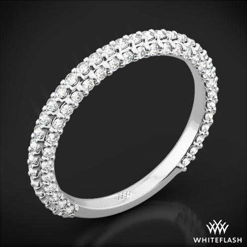 Elena Rounded Pave Diamond Wedding Ring