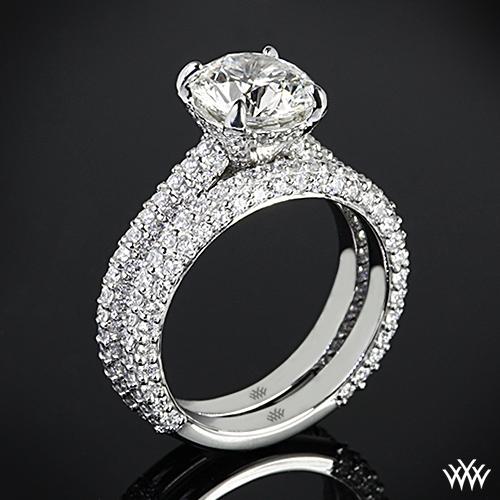 Elena Rounded Pave Diamond Wedding Set
