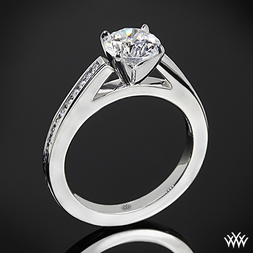 """Honey Channel-Set"" Diamond Engagement Ring"