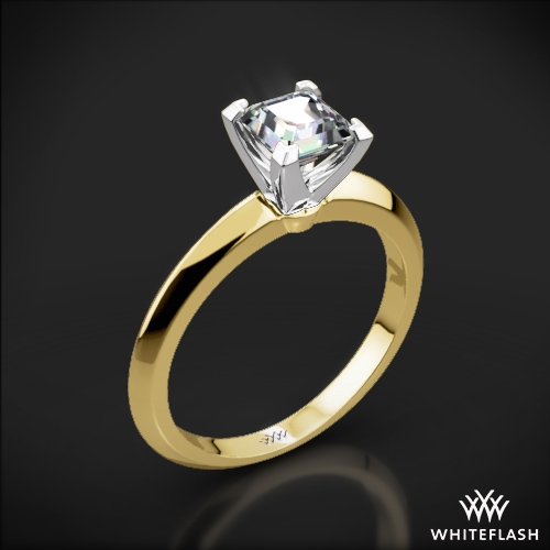 Knife-Edge Solitaire Engagement Ring for Princess