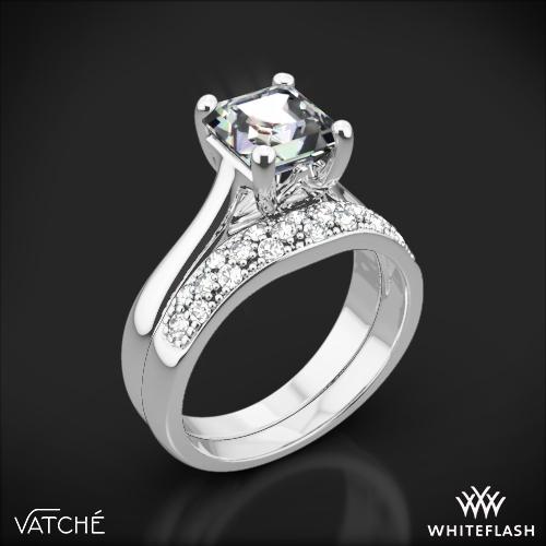 Vatche 1019 Royal Crown Diamond Wedding Set for Princess