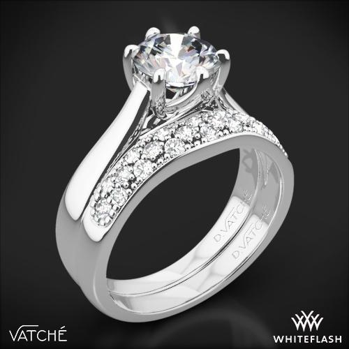 Vatche 119 Royal Crown Diamond Wedding Set