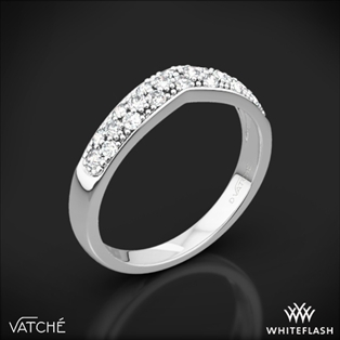 Vatche 213 Contoured Pave Diamond Wedding Ring