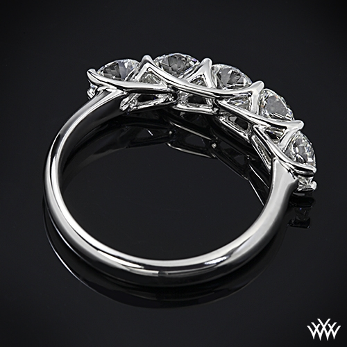 rings split ring diamond trellis gold ct shank engagement white tw p in