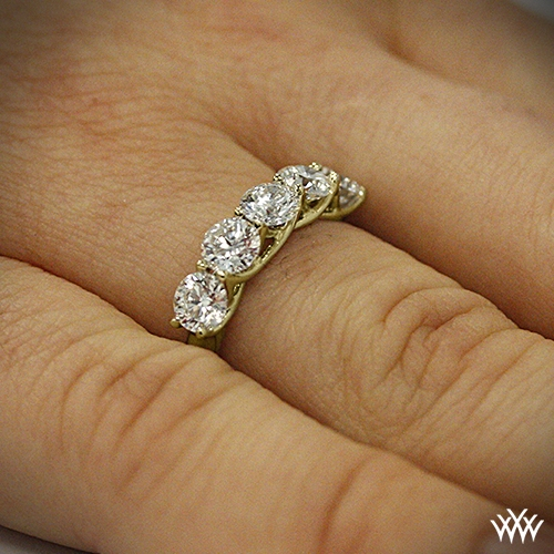 yellow ctw stone in dramatic angle preset ring rings diamond gold p engagement five