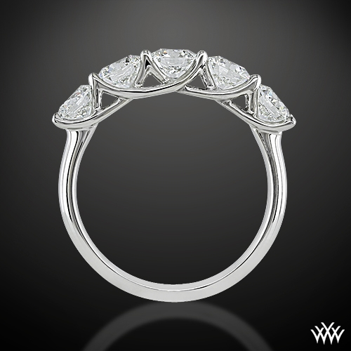 six ring moissanite variation ch stones engagement rings solitaire prong zoom side trellis d