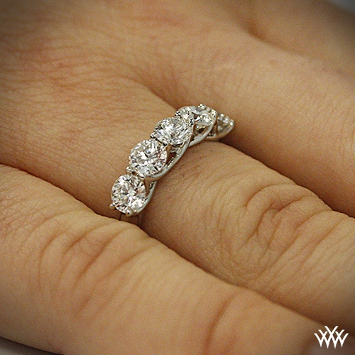 wedding gold anniversary diamond halo bands white stone scalloped band