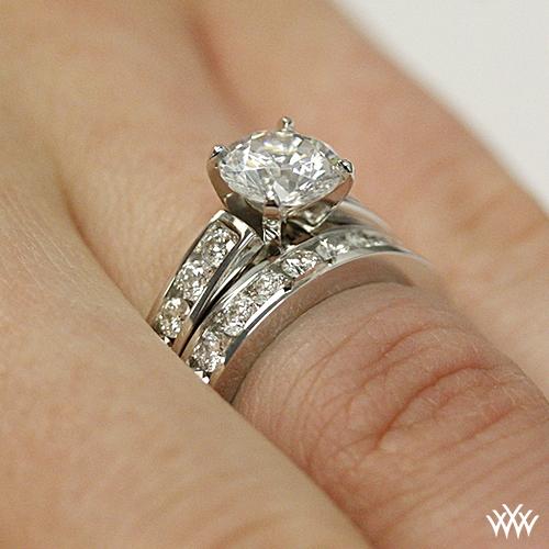 Cathedral ChannelSet Diamond Wedding Set 2385