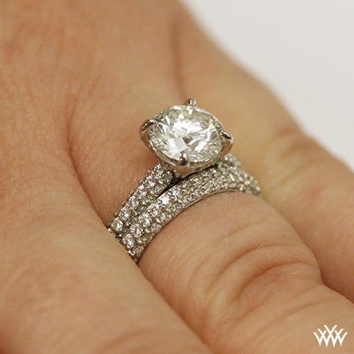 Elena Rounded Pave Diamond Wedding Set 2393