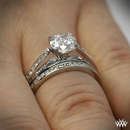 ring me rings vintage channel ctw milgrain band platinum set shadow princess engagement in cut diamond
