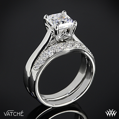 Vatche Royal Crown for Princess Diamond Wedding Set 2376