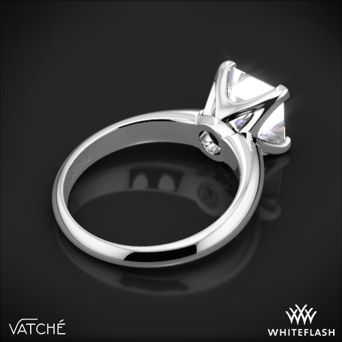 vatche 5th avenue solitaire engagement ring for princess cut diamonds 5 - Princess Wedding Ring