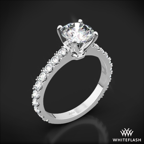 French-Set Diamond Engagement Ring