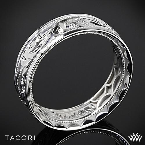 Tacori 104 Sculpted Crescent Eternity Wedding Ring