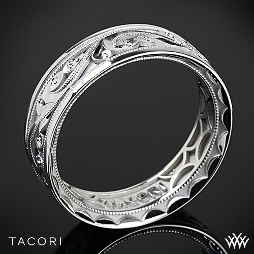 Tacori 104 Sculpted Crescent Eternity Wedding Ring