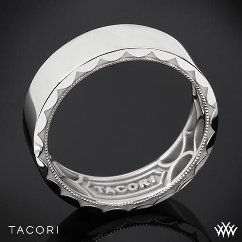 Tacori 105-7 Sculpted Crescent Flat Eternity Wedding Ring