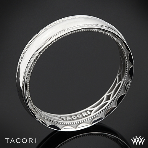 Tacori 106-5 Sculpted Crescent Millgrain Eternity Wedding Ring