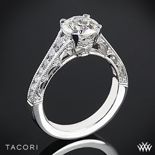 Tacori HT2510 Reverse Crescent Graduated Diamond Engagement Ring