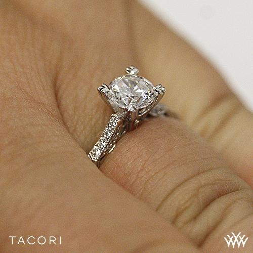 Tacori Simply Tacori 2586 Pave Diamond Engagement Ring 2516