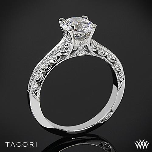 Tacori 2616RD Classic Crescent Pave Diamond Engagement Ring