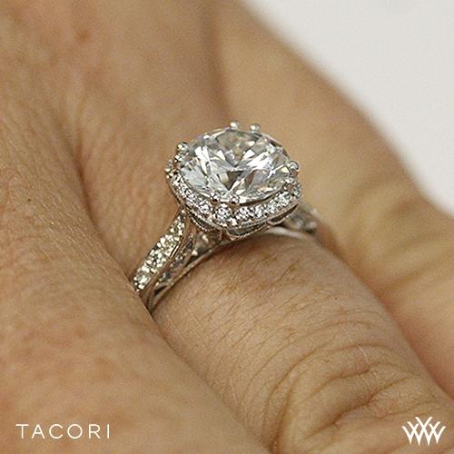 tacori 2620rdp dantela crown diamond engagement ring 2528