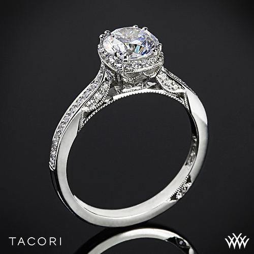 Tacori 2620RDP Dantela Crown Diamond Engagement Ring