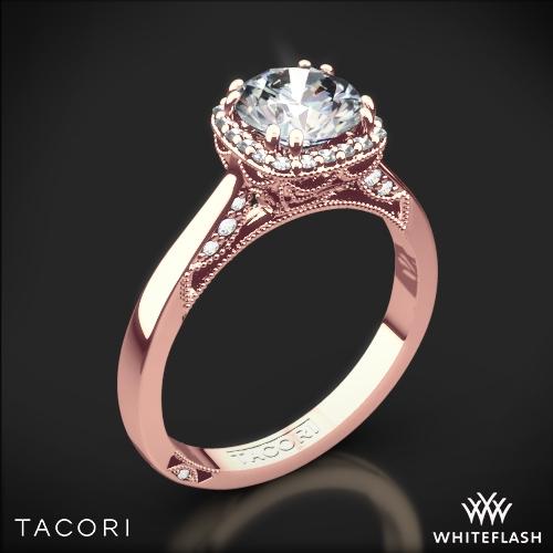 Tacori 2620RDSM Dantela Crown Solitaire Engagement Ring