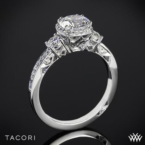 Tacori 2623RD Dantela Three Stone Engagement Ring