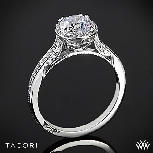 Tacori 2639RD P Dantela Spotlight Diamond Engagement Ring