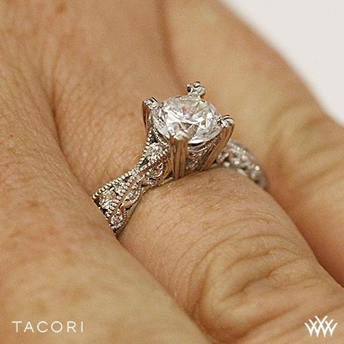 Tacori Classic Crescent 2578 Rd Twist Diamond Engagement