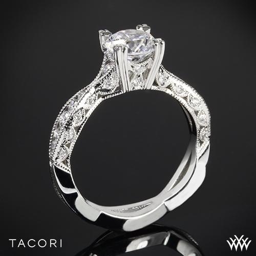 Tacori 2578RD Classic Crescent Twist Diamond Engagement Ring