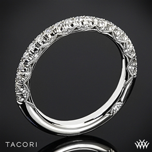 Tacori HT2545B Petite Crescent Scalloped Millgrain Diamond Wedding Ring